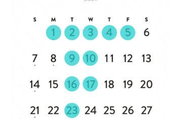 aW HAIR 三軒茶屋の2018年1月のお休みのカレンダーの画像